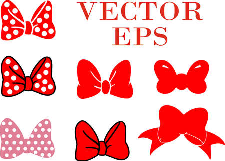 Set of bows. Vector