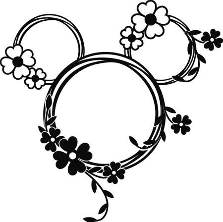 Mickey Mouse / minnie mouse head design.