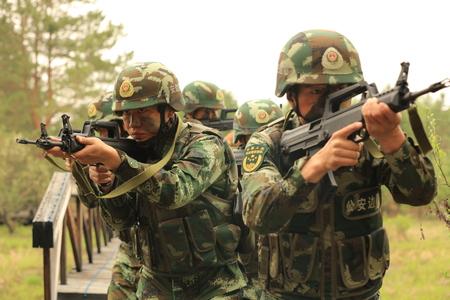 tactical: Arctic border officers tactical drills dart