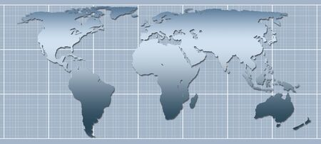 graphic representation of world map Stock Photo - 2934963
