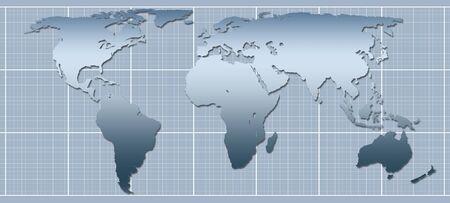 graphic representation of world map Stock Photo - 2934963