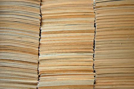 Pile of faded old comic books                                 Stockfoto