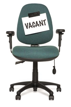 vacant sign: office chair with vacant sign