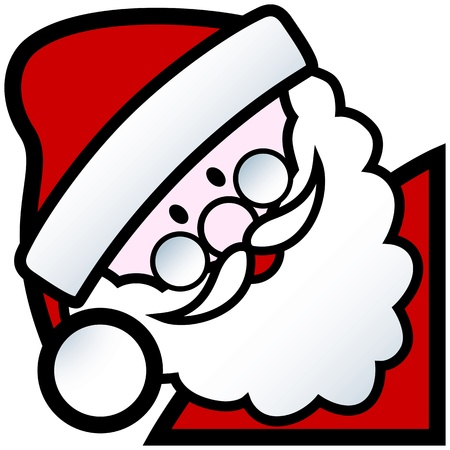 cartoon of happy smiling father christmas character Stock fotó - 15572980
