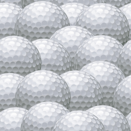 seamless background pattern of multiple white golf balls Illustration
