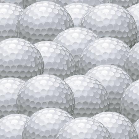 seamless background pattern of multiple white golf balls Illusztráció
