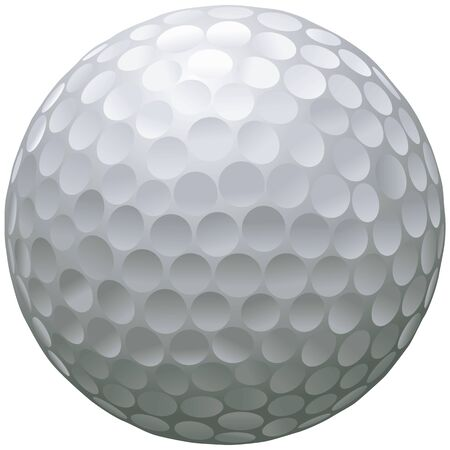 close up illustration of isolated golf ball Illustration