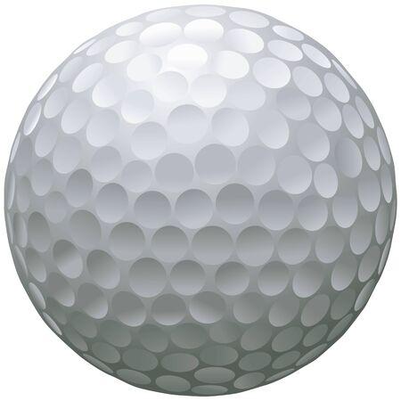 golf ball: close up illustration of isolated golf ball Illustration