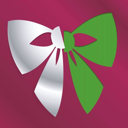 christmas snow: abstract christmas bow icon cut out from background Illustration