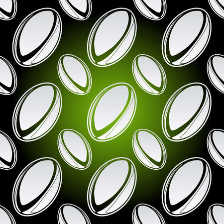 Seamless background illustration of repeating rugby balls Vector