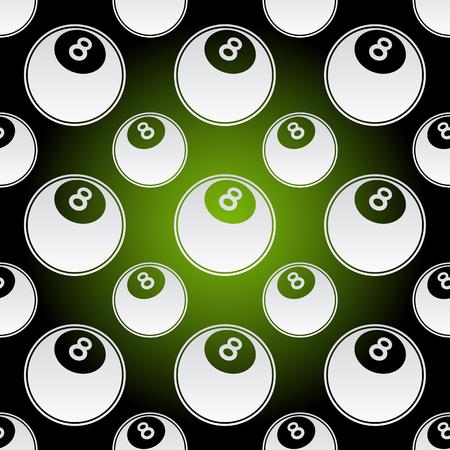 Seamless background illustration of repeating pool balls Illusztráció
