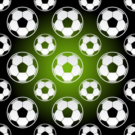 Seamless background illustration of repeating soccer football balls
