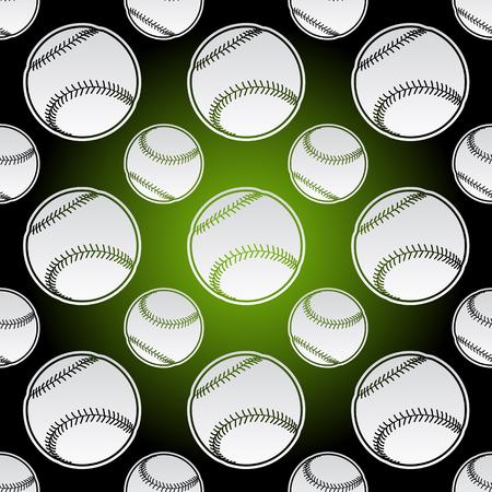 Seamless background illustration of repeating baseball balls Illusztráció