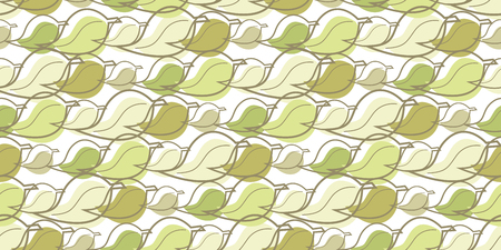 Repeating pattern of leaves, seamless background. Illusztráció