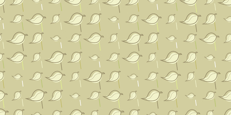 Repeating pattern of leaves, seamless background