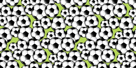 seamless pattern repeat of football soccer balls against a green background Illusztráció