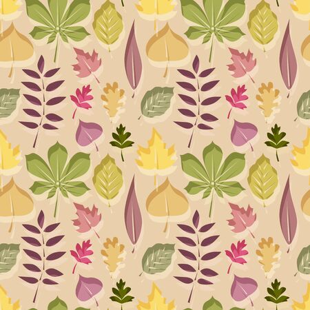 autumn leaves seamless repeat background pattern