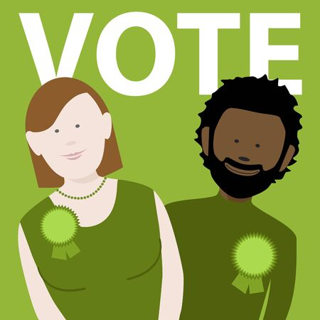 two political candidates for the uk green party. file available Illusztráció
