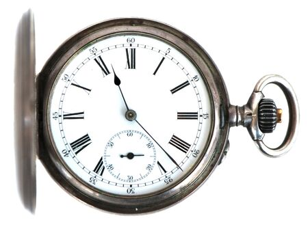 retro antiques clock isolated on white background