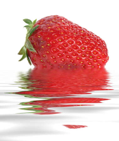 Strawberry on water photo
