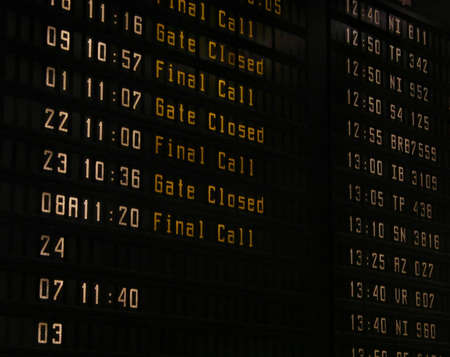 Airport information panel Stock Photo - 1431523