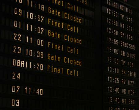 Airport information panel Stock Photo - 1431523