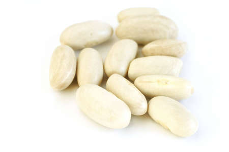 White beans (cannellini beans) over white background