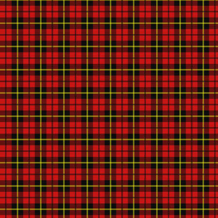 red plaid: Red, black and yellow plaid