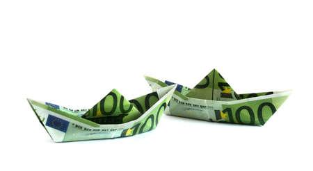 Money boats Stock Photo