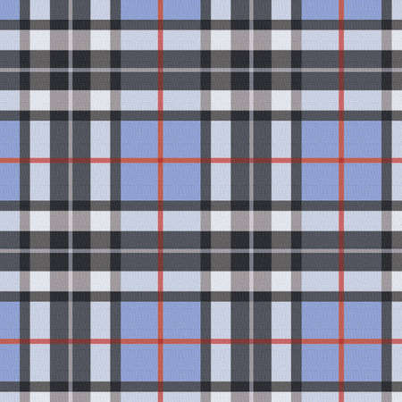 Plaid - blue Stock Photo