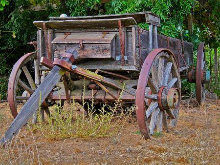 old wood farm wagon: Calistoga Wagon
