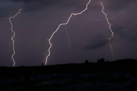 phenomena: Night thunder-storm