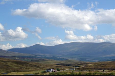 ness river: highland mountain range Stock Photo