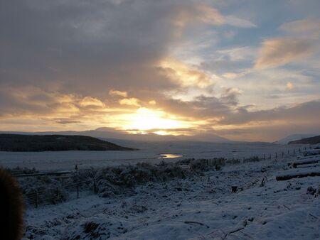 ness river: highland sunset Stock Photo
