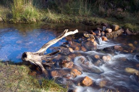 ness river: stream dam Stock Photo