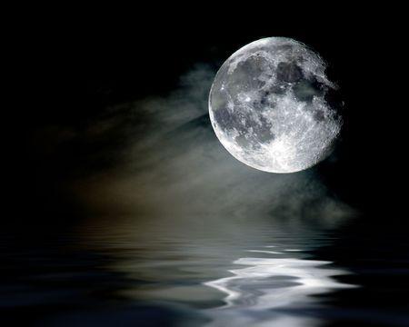 mystic moon reflection photo