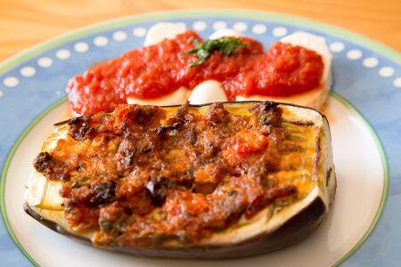 food staple: Grilled Aubergines And Mozzarella