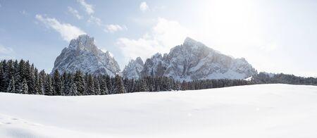 Sasso Lungo and Sasso Piatto panoramic photo