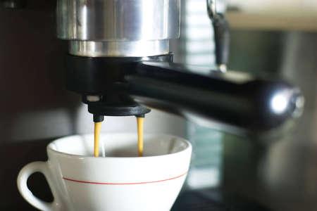steel making: making coffee using espresso machine