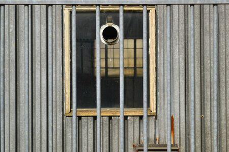 behind bars: Vista behind bars