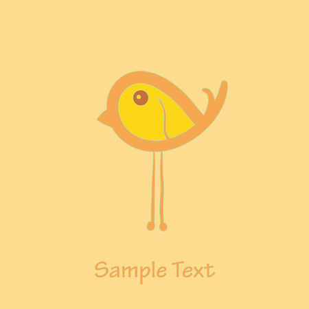 cartoon birds: litle bird. Illustration