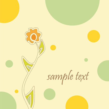 abstract background with a flower, vector illustration
