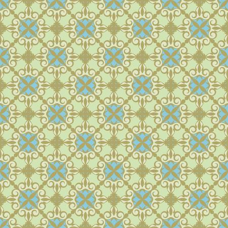 revival: ornamental background , green - blue. Illustration