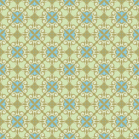 ornamental background , green - blue.