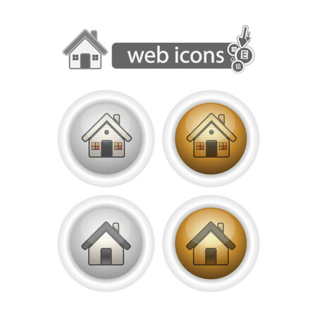 home, web icons, isolated on white. Vector