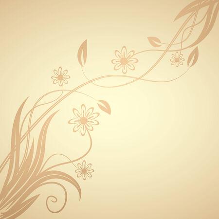 floral design , illustration Stock Vector - 7417412