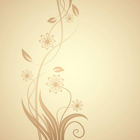 floral design , illustration Stock Vector - 7417413