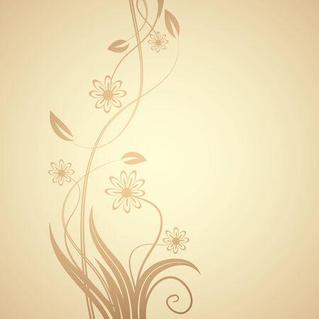floral design , illustration Stock Vector - 7417413