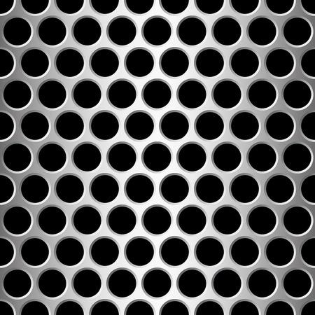 aluminum seamless pattern wit round holes,  illustration Stock Vector - 7822285