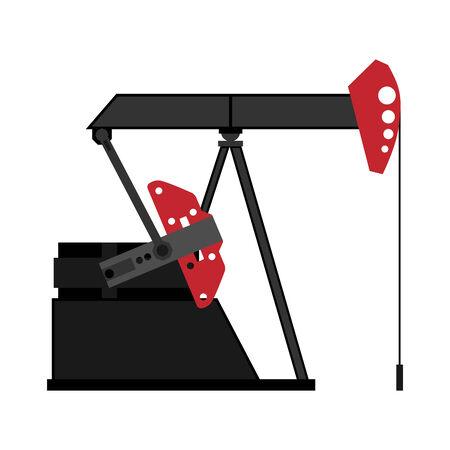 oilfield: oil pump,  illustration
